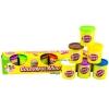 ProudNada Toys ของเล่นเด็กแป้งโดว์รีฟิว 6 กระปุกFUNNY LUCKYCOLOURFUL MUD BOTTLE NO.F012-7