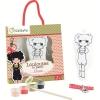 Avenue Mandarine Doll to paint รุ่น Louloutes รูปตุ๊กตาผู้หญิงELISA สำหรับเด็ก7ขวบขึ้นไป พร้อมอุปกรณ์ในกล่องการ์ตูนตุ๊กตาผู้หญิงELISA 12ซ.ม., สีอะคริลิ 4ขวด, พู่กัน 1 ด้าม,ริบบิ้น 1