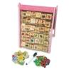Little Pumpkin ของเล่นไม้ เสริมพัฒนาการ กระดานไวท์บอร์ด+ปากการางลูกเต๋าคำศัพท์และตัวเลข พร้อมแผ่นแม่เหล็กสร้างเมืองและตัวเลข