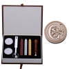 AC Letter Alphabet Wax Badge Seal Stamp w/Wax Kit Set Letter A-ZOptional (Intl)