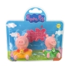 Peppa Pig ของเล่น Peppa Pig Bath Figurines 2 Pcs