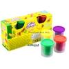 Uni ดินน้ำมัน แป้งโดว์ ของเล่นเด็กชุดแป้งโดว์ 4 กระปุก Color DoughNO.6838