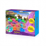 Motion Sand ทรายมหัศจรรย์ 3 มิติ ชุด ซาฟารี ทราย 500g พร้อมของเล่นและกล่อง 3 มิติ
