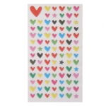 Colourful Heart Puff Stickers Diary Scrapbook Card making
