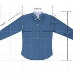 Size Chart ของเสื้อเชิ้ตแบบละเอียด