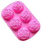 แม่พิมพ์ซิลิโคน คัพเค้ก พุดดิ้ง วุ้น 6 หลุม รูปดอกกุหราบ BAKE205