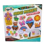 VcareForKids Mould & Paint ,Fridge Magnet ชุดทำ Magnetปูนปลาสเตอร์ระบายสี เซทดอกไม้และไอศครีม