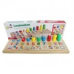 ASIA TOY Teaching Logarithmic board บอร์ดเสาหมุดไม้ลูกปัดสอนเลข