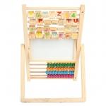 AomAmm Toys กระดานไม้ Multi purpose 4 in 1 (ไวท์บอร์ด + แบล๊คบอร์ด+ลูกคิด+ คำศัพท์)