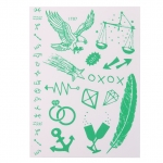 1 x Sheet Glow In Dark Luminous Temporary Tattoo Sticker Art - IT07