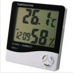 เทอร์โมมิเตอร์ วัดความชื้นสัมพัทธ์ +นาฬิกา รุ่นใหญ่ THER135