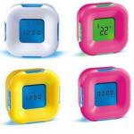 นาฬิกาตีลังกา 4IN1 เป็นปฏิทิน วัดอุณหภูมิ นาฬิกาปลุก COUNTDOWN TIMER THER139