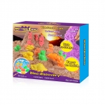 Motion Sand ทรายมหัศจรรย์ 3 มิติ ชุดไดโนเสาร์ ทราย 500g ของเล่นและกล่อง 3 มิติ
