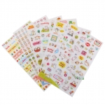 6pcs CuteTransparent Calendar Scrapbook Diary Book Decor PlannerSticker