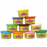 ProudNada Toys แป้งโดว์ 10 สี Colour Dough Party Pack 10 Mini CansNO.6610