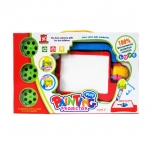 Wisher Toys กระดานวาดเขียน 3 in 1 Play Painting Projector - สีแดง