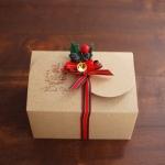 กล่องใส่คุ๊กกี้ ใส่ขนม สีน้ำตาล 10 กล่อง BAKE075