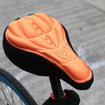 เจลหุ้มเบาะ จักรยาน มีรูระบายอากาศ BIKE180 สีส้ม/น้ำเงิน/แดง