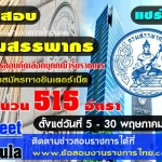 กรมสรรพากรเปิดสมัครสอบเข้ารับราชการ 515 อัตรา(มีป.ตรีทุกสาขา) ตั้งแต่วันที่ 5 - 30 พฤษภาคม 2560
