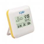 IQ AIR เทอร์โมมิเตอร์+วัดความชื้นสัมพัทธ์+นาฬิกา+ปฏิทิน แบบตั้งโต๊ะ THER131