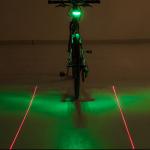 ไฟท้ายเลเซอร์ สีเขียว BIKE214