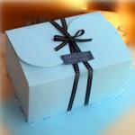 กล่องใส่คุ๊กกี้ ใส่ขนม สีฟ้า 10 กล่อง BAKE127