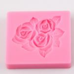 แม่พิมพ์ซิลิโคน ฟองดอง ลายดอกกุหลาบ BAKE030