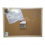กระดานไม้ก๊อก บอร์ดติดประกาศ พร้อมหมุดติด กระดาษโน๊ต ข้อความ จดจำCorkBoard Announce message notes (30x40)