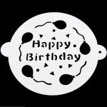 แผ่นแต่งหน้าเค้ก แผ่นทำ ลายเค้ก 3 แบบ CAKE STENCILS BAKE194 มีหูจับ