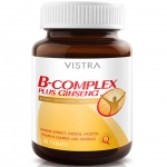Vistra B Complex Plus Ginseng 30 เม็ด วิตามินบีรวม ผสมโสม จินเซนโนไซด์ลดความเครียด