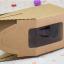 กล่องใส่คัพเค้ก 1 หลุม กระดาษคราฟท์ มีหูหิ้ว ด้านหน้าใส 5 กล่อง BAKE167 thumbnail 3