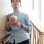 เสื้อเชิ้ตผุ้ชายลายจุด สีฟ้าขาว คอจีน thumbnail 4