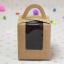 กล่องใส่คัพเค้ก 1 หลุม กระดาษคราฟท์ มีหูหิ้ว ด้านหน้าใส 5 กล่อง BAKE167 thumbnail 2