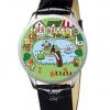 นาฬิกาข้อมือกบเคโระ (Keroppi) สายสีดำ