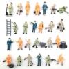 คนงานก่อสร้าง สเกล 1:87 คละแบบ ชุด 50 คน
