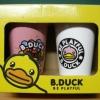 แก้วน้ำเซอรามิค B.Duck ชุด 2 ใบพร้อมฝา