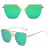 แว่นตากันแดด UV400 สีเขียว
