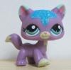 LPS แมวเปอเซียสีม่วงแต่งวิ๊งค์ #2386