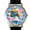 นาฬิกาข้อมือ smurfette สายหนังสีดำ