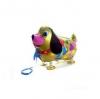 ลูกโป่งฟอยล์สุนัขสีทองเดินได้