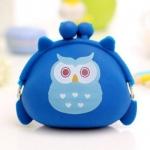 กระเป๋าสตางค์นกฮูก สีฟ้า