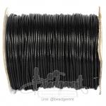 เชือกคอตตอน 2มม. เนื้อเงา สีดำ (100 หลา)