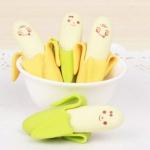 ยางลบ สไตล์กล้วยน่ารัก ชุด 4 ชิ้น