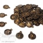 จี้อะคริลิค 11มม. ลายเหรียญเล็ก สีสนิม (15 กรัม)