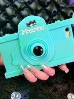 เคสไอโฟน 6 Plus /6s Plus เคสซิลิโคน Miss Camera สีฟ้า